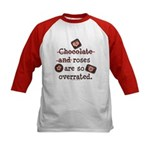 Anti Valentine Chocolate Lover Kids Baseball Jerse