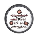 Anti Valentine Chocolate Lover Wall Clock