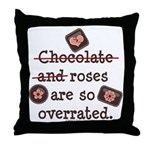 Anti Valentine Chocolate Lover Throw Pillow