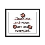 Anti Valentine Chocolate Lover Framed Panel Print