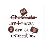 Anti Valentine Chocolate Lover Small Poster