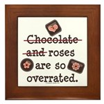 Anti Valentine Chocolate Lover Framed Tile
