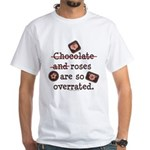Anti Valentine Chocolate Lover White T-Shirt