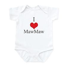I Love (Heart) Maw Maw Infant Bodysuit