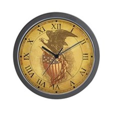 Vintage Bald Eagle Wall Clock