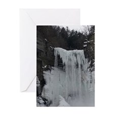 Waterfall Ice Greeting Card