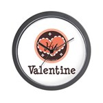 His Valentine Valentine's Day Wall Clock