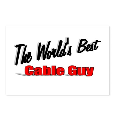 """The World's Best Cable Guy"" Postcards (Package of"