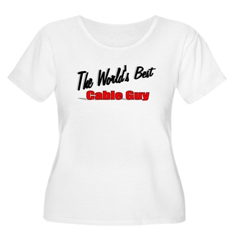 """The World's Best Cable Guy"" Women's Plus Size Sco"