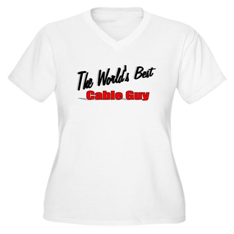 """The World's Best Cable Guy"" Women's Plus Size V-N"