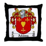 Adams Family Crest Throw Pillow