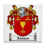 Adams Family Crest Tile Coaster
