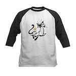 Siamese Cat Royalty Kids Baseball Jersey