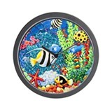 Coral Reef Wall Clock