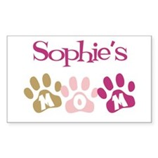 Sophie's Mom Rectangle Decal
