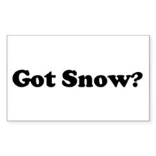 Got Snow? Rectangle Decal