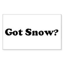 Got Snow? Rectangle Stickers