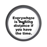 Wright quote Wall Clock
