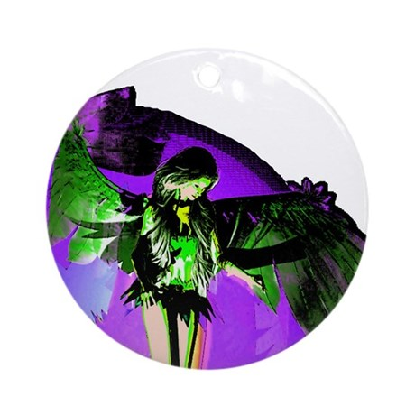 Angel Art Ornament (Round)