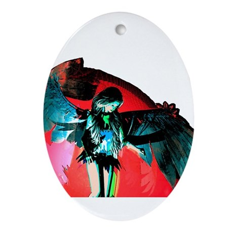Angel Art Oval Ornament
