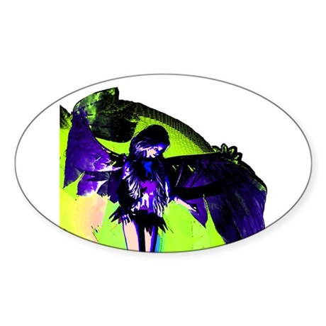 Angel Art Oval Sticker