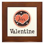 Her Valentine Valentine's Day Framed Tile