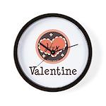 Her Valentine Valentine's Day Wall Clock