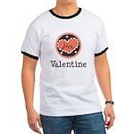 Her Valentine Valentine's Day Ringer T