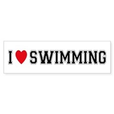 I Love Swimming Bumper Bumper Sticker