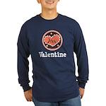 Her Valentine Valentine's Day Long Sleeve Dark T-S