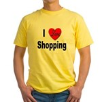 I Love Shopping for Shoppers Yellow T-Shirt