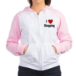 I Love Shopping for Shoppers Women's Raglan Hoodie