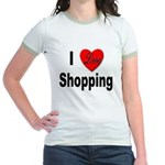 I Love Shopping for Shoppers Jr. Ringer T-Shirt