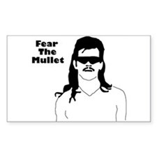 Fear the Mullet Rectangle Decal