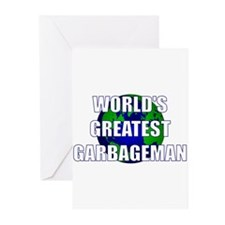 World's Greatest Garbageman Greeting Cards (Pk of
