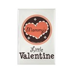 Pink Brown Mommy's Little Valentine Rectangle Magn