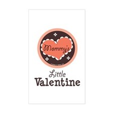 Pink Brown Mommy's Little Valentine Decal