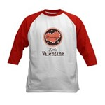 Pink Brown Mommy's Little Valentine Kids Baseball