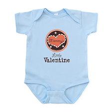 Pink Brown Mommy's Little Valentine Onesie