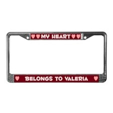 My Heart: Valeria (#007) License Plate Frame