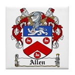 Allen Family Crest Tile Coaster