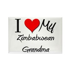 I Heart My Zimbabwean Grandma Rectangle Magnet