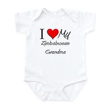 I Heart My Zimbabwean Grandma Infant Bodysuit