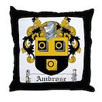 Ambrose Family Crest Throw Pillow