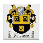 Ambrose Family Crest Tile Coaster