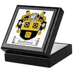 Ambrose Family Crest Keepsake Box