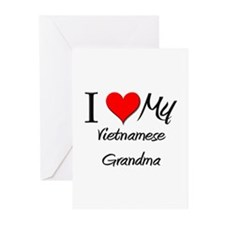I Heart My Vietnamese Grandma Greeting Cards (Pk o
