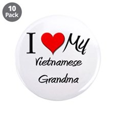 "I Heart My Vietnamese Grandma 3.5"" Button (10 pack"
