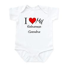 I Heart My Vietnamese Grandma Infant Bodysuit