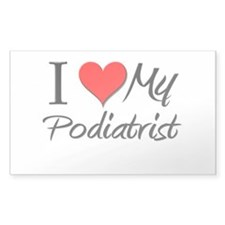 I Heart My Podiatrist Rectangle Decal